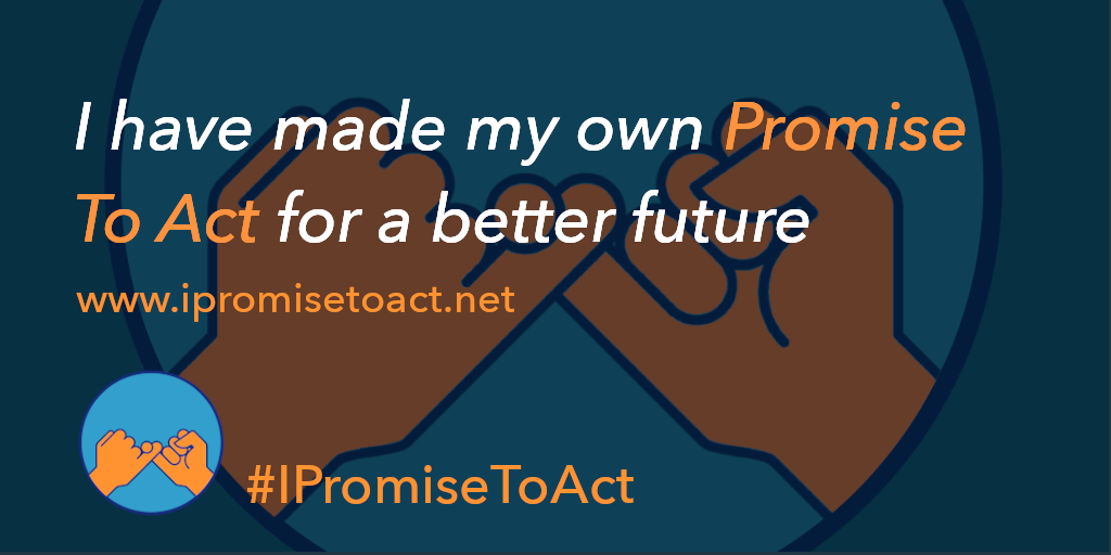 I have made my own Promise To Act for a better future